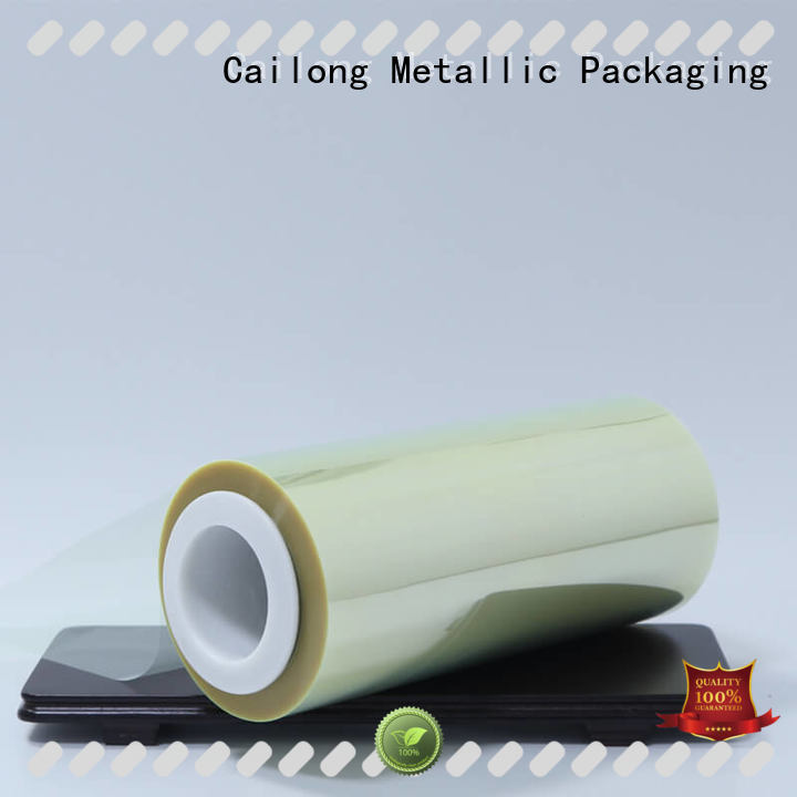 Cailong plain transparency film bulk production for stickers