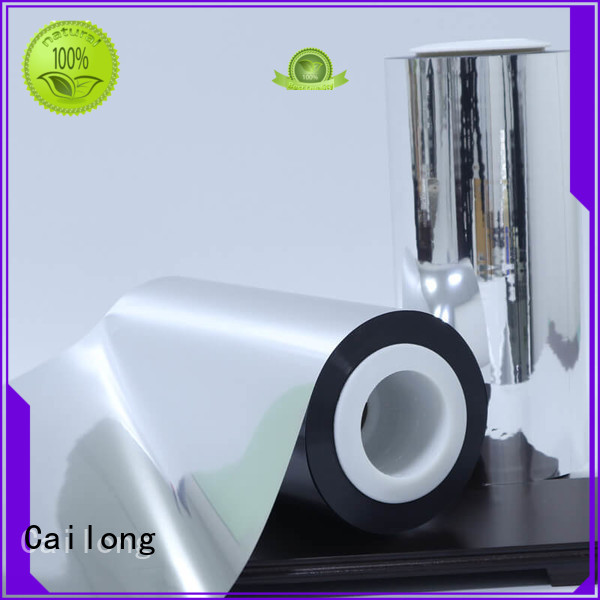 Cailong Vacuum metalized paper owner for decorative materials