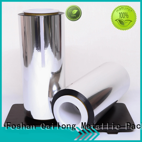 Cailong side metalized polyester film China ffor Decorative