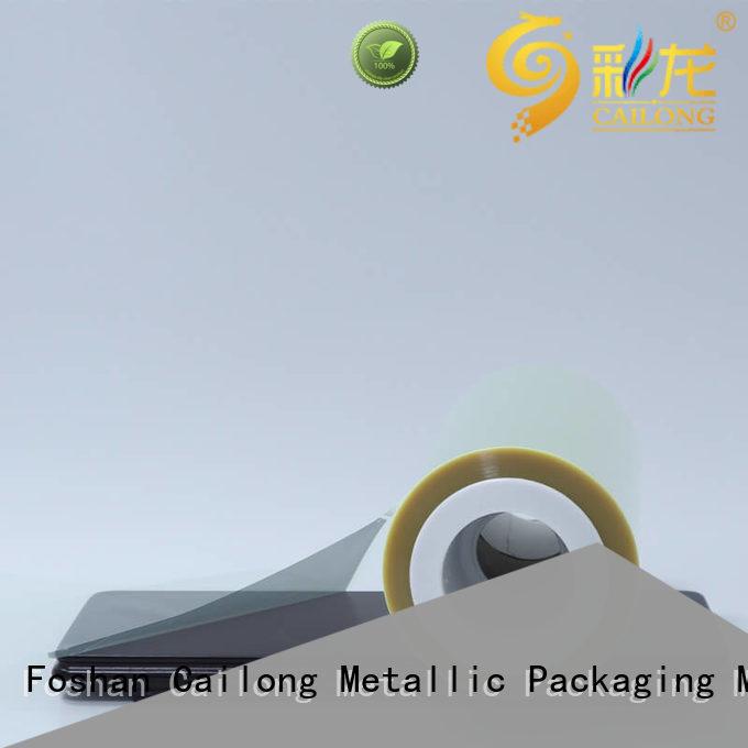 Cailong polyester film bulk production decorative materials