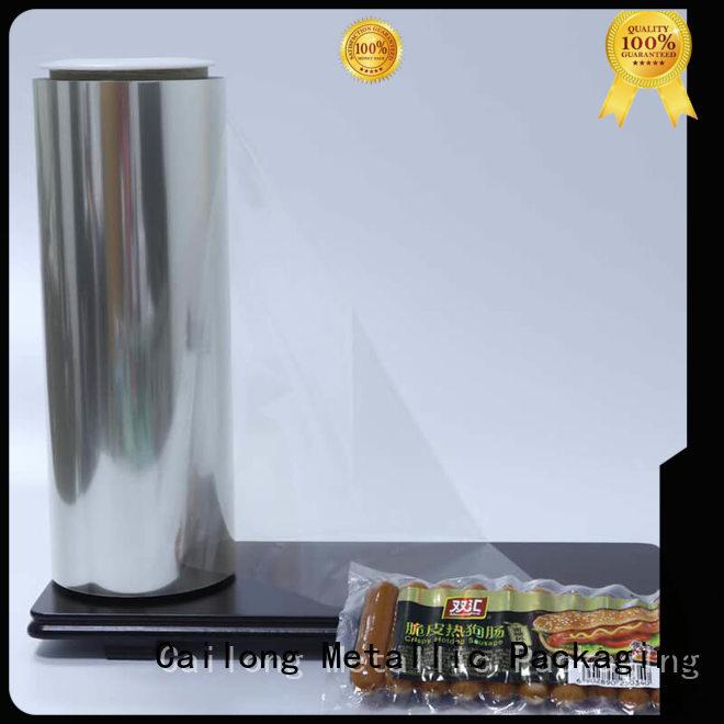 Cailong High Transparent matte pet film for shopping bag