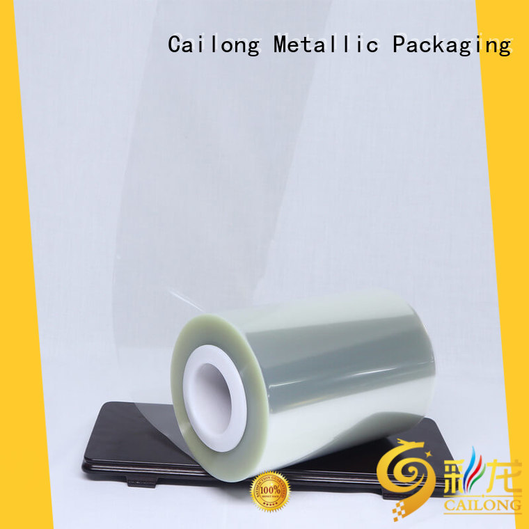 Cailong petgt clear pet film certifications for medical packaging