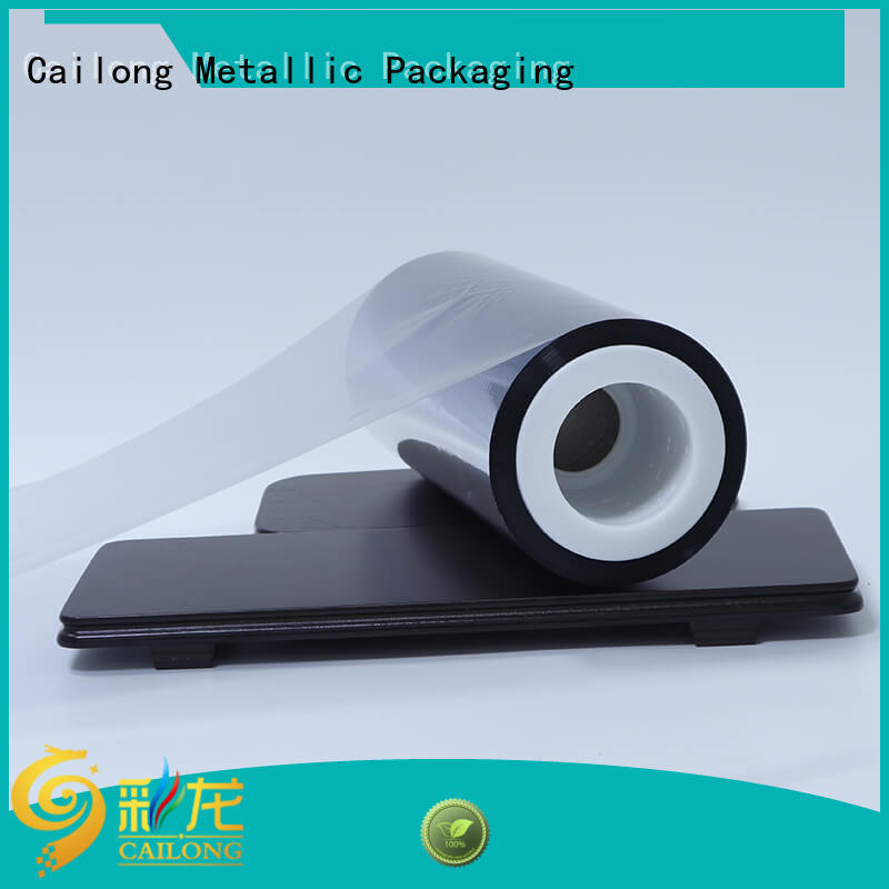 Vacuum metallised film semimetallized effectively for product