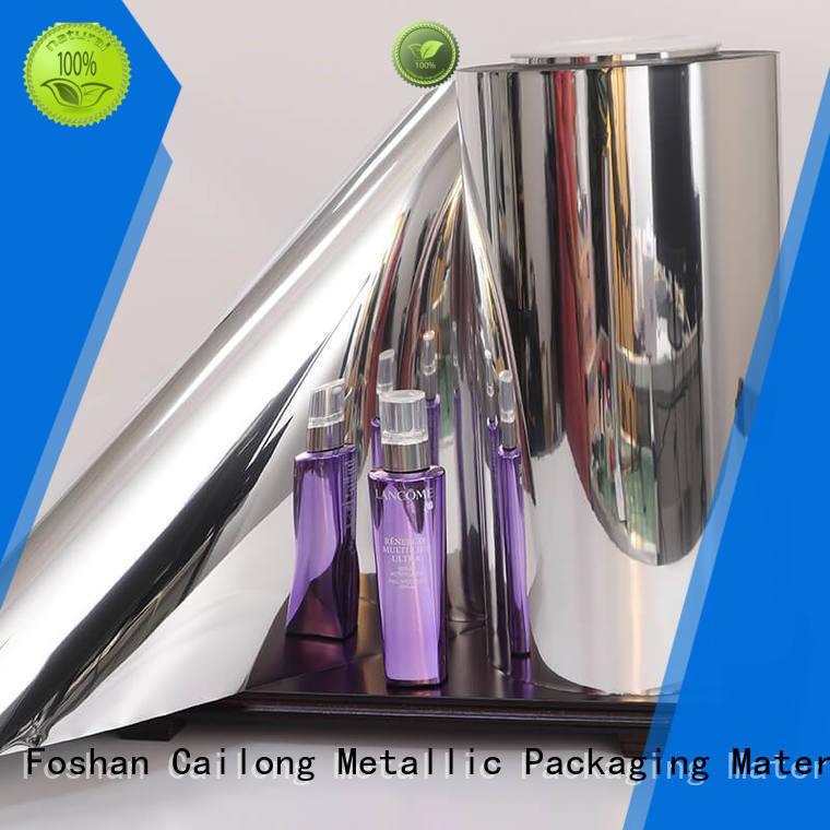 Cailong Good metallic gloss metallic film cost for shopping bags