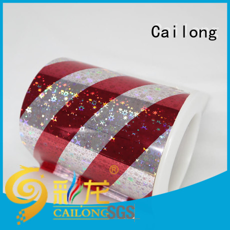 Cailong roll holographic plastic sheets free design for alcohol