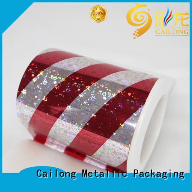 Cailong Seamless transparent holographic film from manufacturer for material