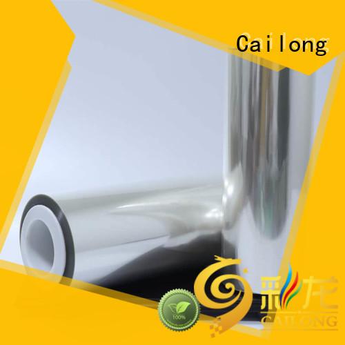Cailong transparent pet laminating film supplier decorative materials