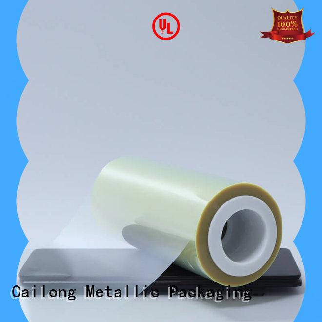 Anti-UV clear mylar film roll free design decorative materials Cailong