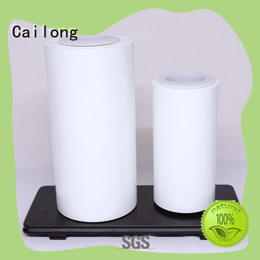 black colored polyester film white for electronics Cailong