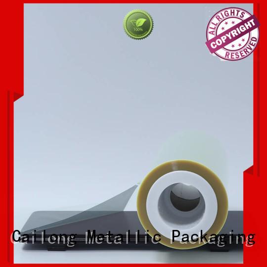 transparent pet laminating film static for medical packaging Cailong