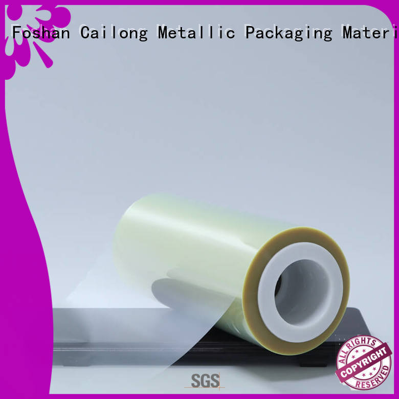 Cailong mylar polyester film order now used for labels