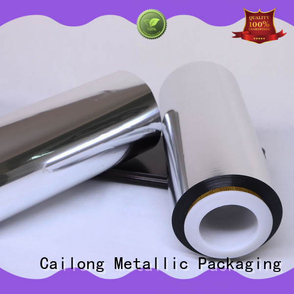 Cailong nano metallized polyester film for wholesale for advertising