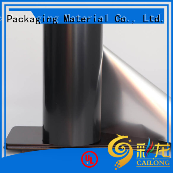 Cailong chemical metallized pet film effectively for cooked food
