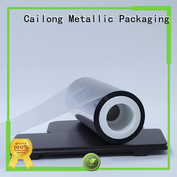 Cailong thin metalized film supplier for decorative materials