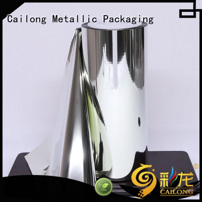 pet metalized polyethylene film for wholesale for advertising Cailong