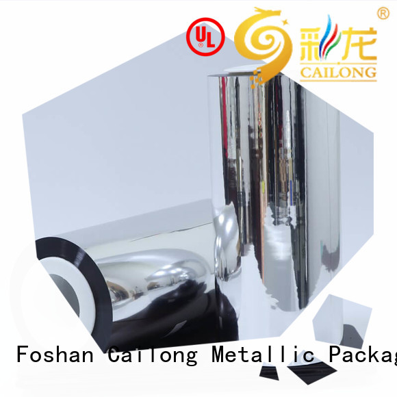 Cailong UV light protection metallised film experts for decorative materials