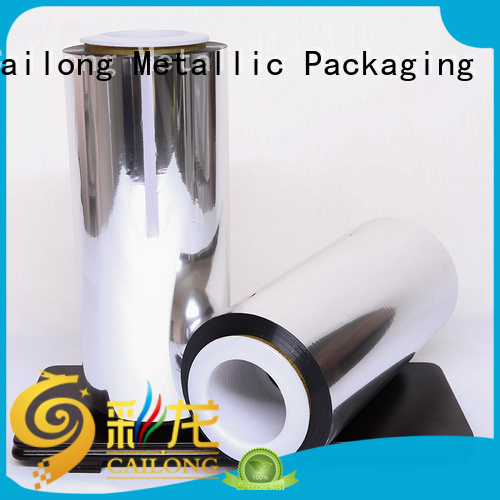 Cailong Good metallic gloss metalized polyester film half for decorative materials