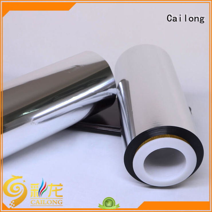 metallized metallized polyester film from manufacturer used for stickers Cailong