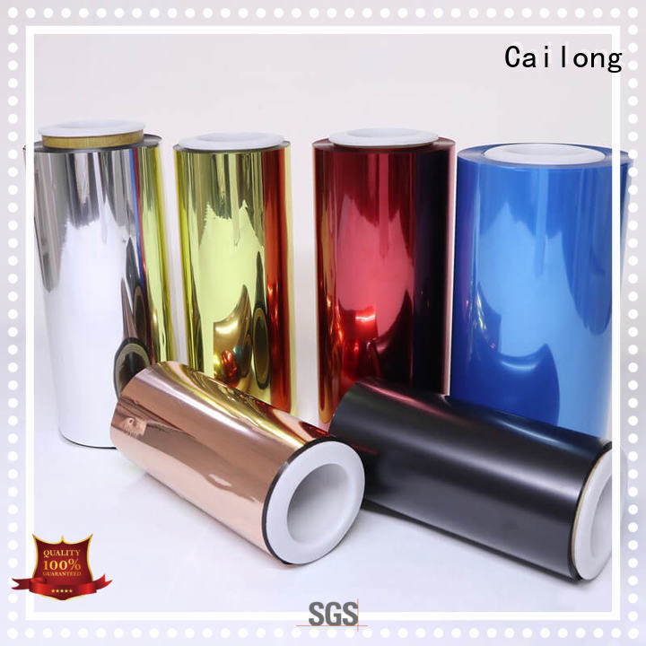 Cailong red plastic film supply for labels