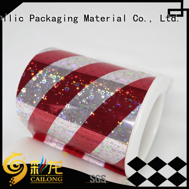 Cailong quality holographic plastic sheets for Tinplate