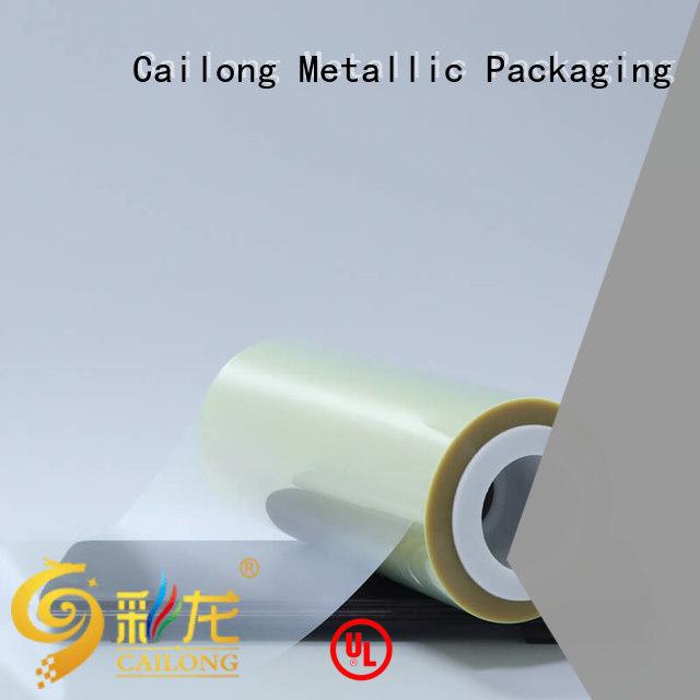 Cailong solid plastic film petgt for shopping bag