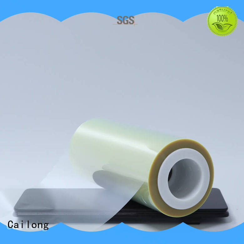 Plain film polyester static for stickers