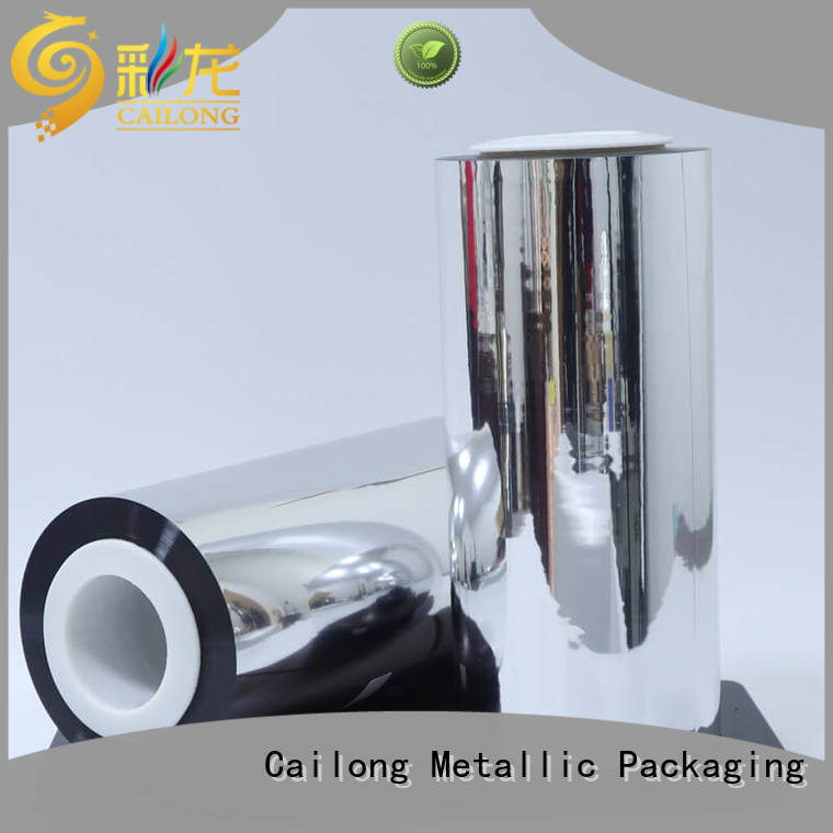 Cailong Anti- Explosion metallic film type used for stickers