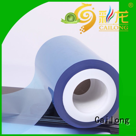 original color transparency film pet for materials Cailong
