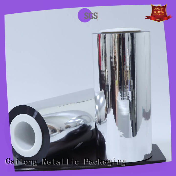 Cailong High barrier metalized film food packaging metallizing used for stickers