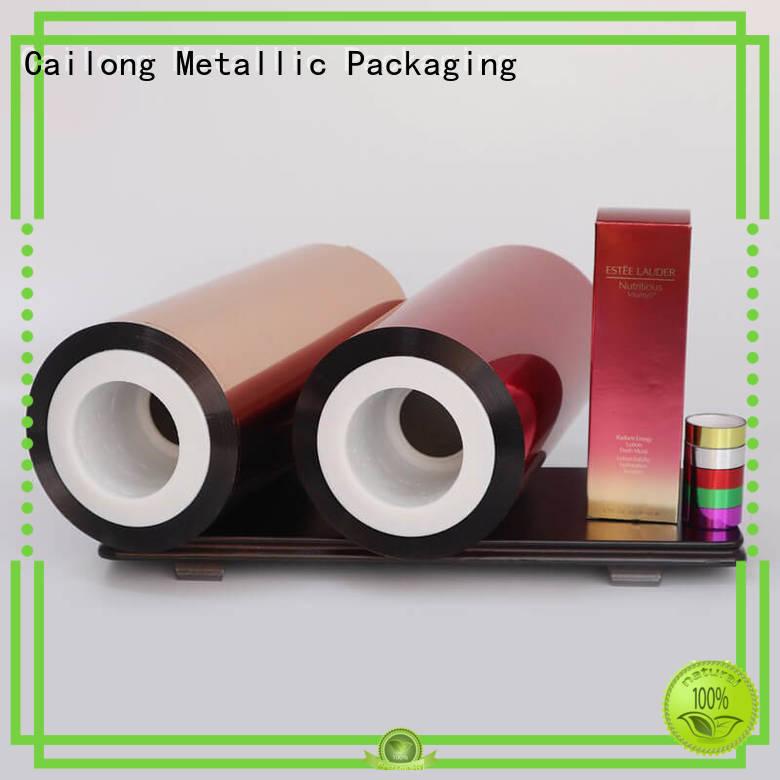 Cailong pet pvc film vendor for labels