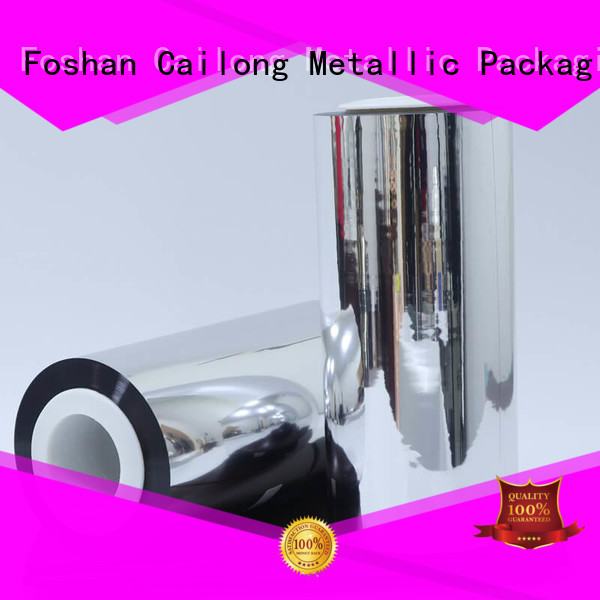 Cailong UV light protection metalized pet film popular ffor Decorative