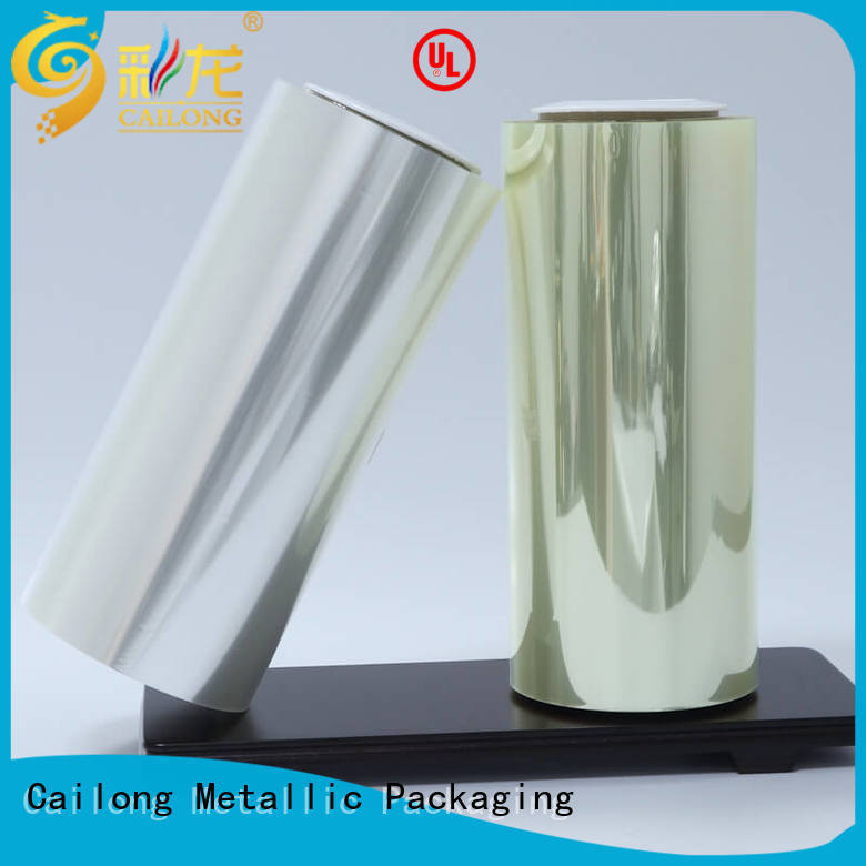 Cailong clear mylar film roll for shopping bag