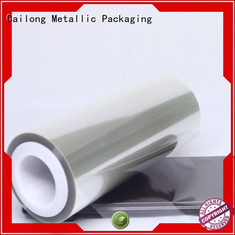 Cailong transparent ultra thin pet film free design decorative materials