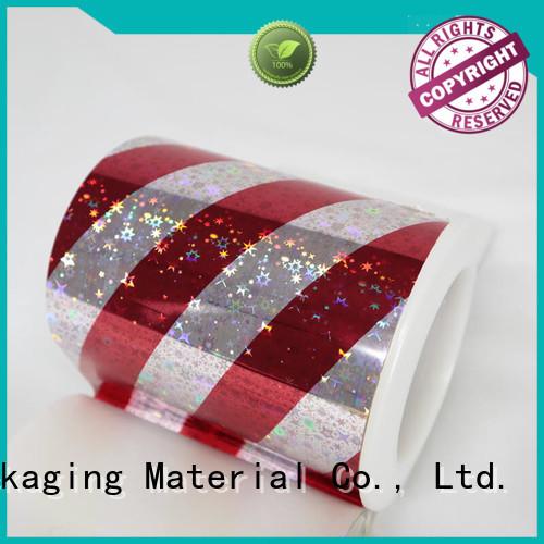 Cailong stable transparent holographic film bulk production for Anti-counterfeit labels