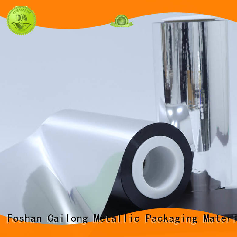 Cailong water vapour metalized paper effectively used for stickers