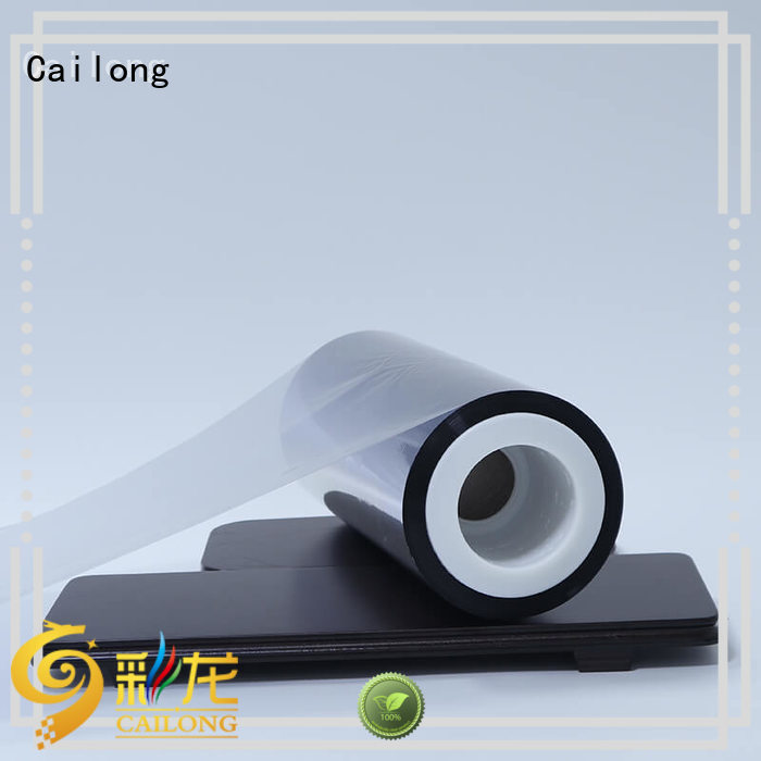 Cailong partial metalized polyester supplier used for stickers