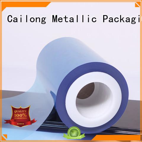 Cailong Color Coating color pet film blue for cosmestics