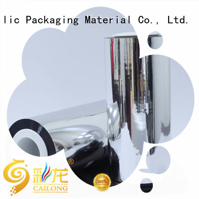 Cailong vmpet metalized polyester popular for shopping bags