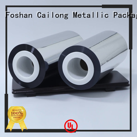 Cailong grade metalized pvc film inquire now used for medicine