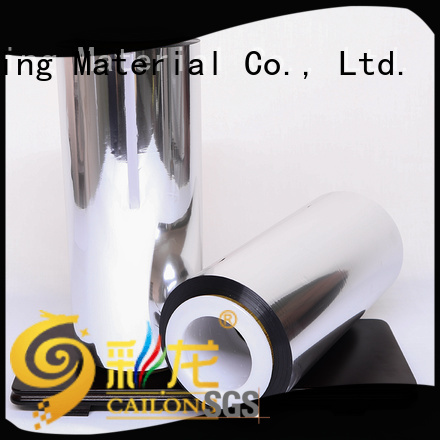 Cailong Aromas metalized foil black used for stickers