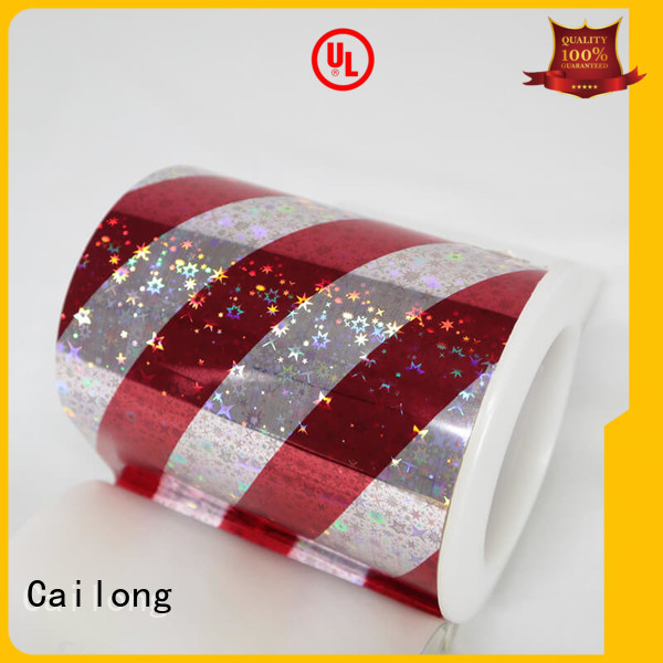 Cailong transparent holographic film free design for Tinplate