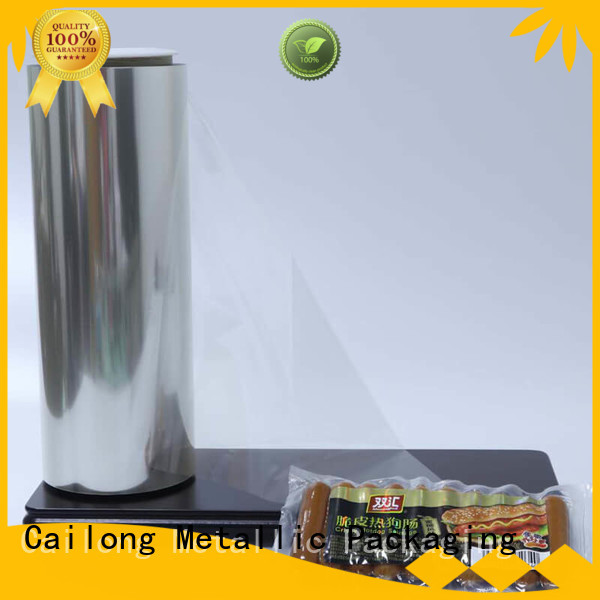 Anti-UV film clear free design for shopping bag