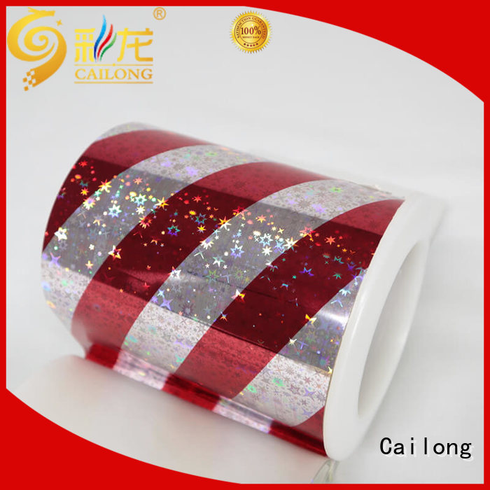 transparent hologram film seamless for Anti-counterfeit labels Cailong