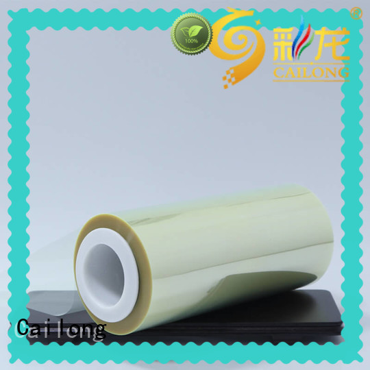Cailong advanced anti static film plain for stickers
