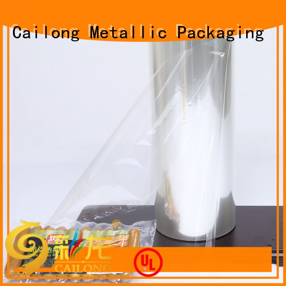 Cailong alox transparent foil improvement for dehydrated food