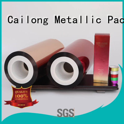 Cailong petts transparent color film wholesale for packing foor