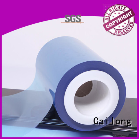 red clear pet sheet film for printing Cailong
