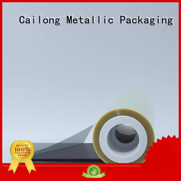 clear polyester film static for stickers Cailong