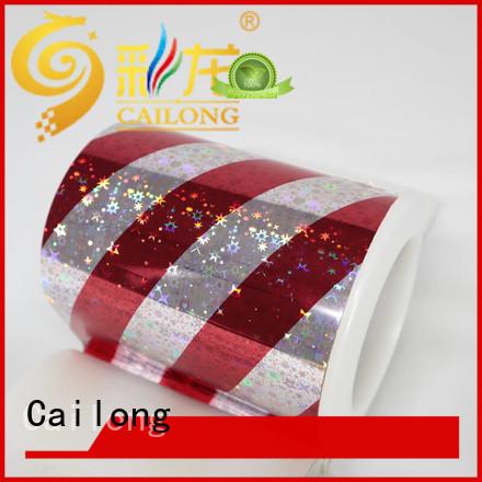 transparent hologram film film for woven bag Cailong