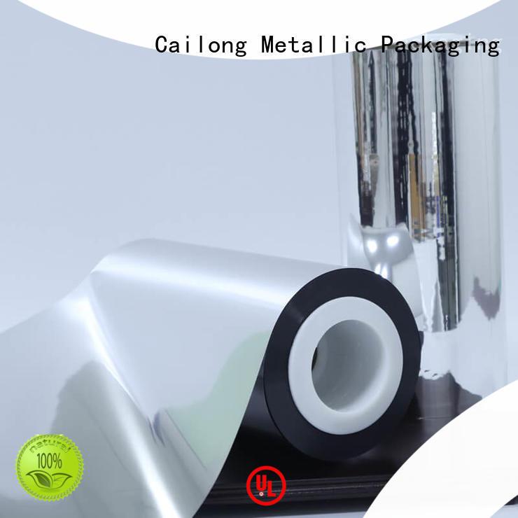 Cailong Aromas metalized pet film popular for decorative materials